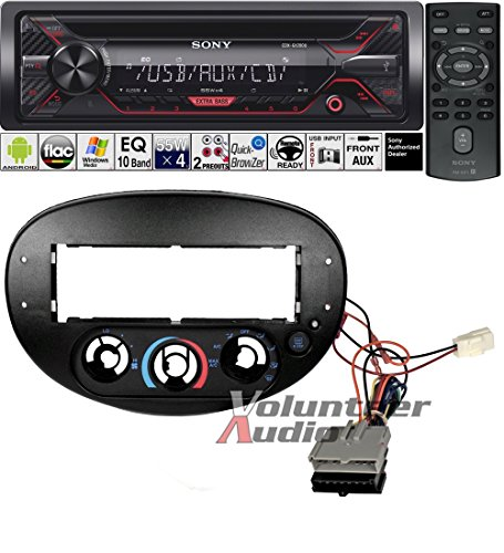 Volunteer Audio Sony CDX-G1200U Double Din Radio Install Kit with CD Player, USB/AUX Fits 1997-2003 Ford Escort, 1997-1999 Mercury Tracer ()