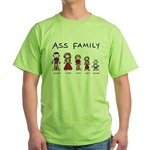 Royal Lion Green T-Shirt Ass Family Smart Wise Jack Lazy Dumb - XL (Wise Ass)