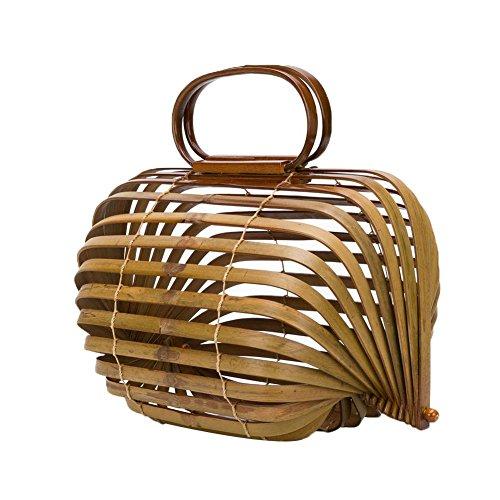 Pájaros Mano Bambú Bolsa Jaula Hecho Al Aire A Trenzado Registro Libre De Paquete Para 1830cm Niulyled Bolso En Color 2339cm Playa Plegable Viaje qxpatv0t