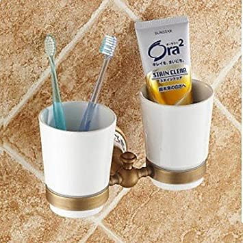Porta Cepillo de dientes / Latón Antiguo Latón Antiguo /cerámica: Amazon.es: Bricolaje y herramientas
