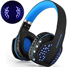 Bluetooth Headphones with Mic, Beexcellent Hi-Fi Noise Cancelling Stereo Stable Connect LED 4.1 Music Wireless Headset for Smart Phone iPhone Laptop Tablet Mac Smart TV