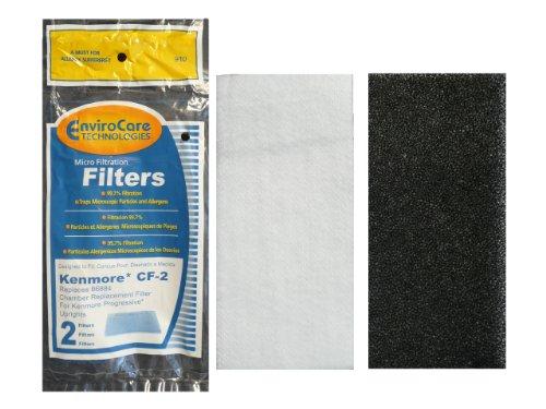 (1) Kenmore CF2 Foam Safety Vacuum Filter, Upright, Progressive Vacuum Cleaners, 86884, 20-86884C, 2086884, 4370432, -