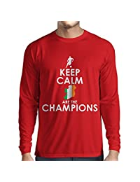 N4491L T-shirt long sleeve Keep Calm, Irish are the Champions