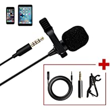 Maono AU-403 Lavalier Microphone with 20ft Extension Cable Lapel Mic Handsfree Clip-on for iPhone, Android, Smartphone, DSLR Camera, Voice Amplifie, PC, Laptop, Wireless Transmitter, Youtube Podcast