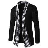 Coat ,BeautyVan New Fashion Men's Slim Fit Long Sleeve Patchwork Blouse Tops Coat (XL, Black)
