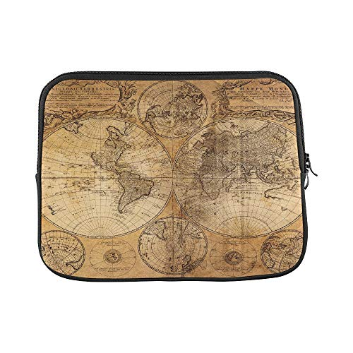 Design Custom Antique Map of Africa by Abraham Ortelius Circa Sleeve Soft Laptop Case Bag Pouch Skin for MacBook Air 11