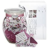 KindNotes Glass LONG DISTANCE RELATIONSHIP Keepsake Gift Jar of Messages for Him or Her Birthday, Anniversary, Just Because - Birds and Flowers