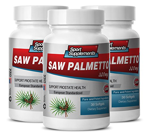 Saw palmetto bulk - SAW PALMETTO BERRY EXTRACT 320 MG For Prostate and Urinary Tract Health - Men health product - 3 Bottles 90 softgels by Sport Supplements