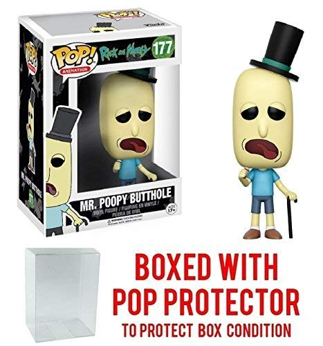 Rick and Morty - Mr. Poopy Butthole Funko Pop! Vinyl Figure (Includes Compatible Pop Box Protector Case)