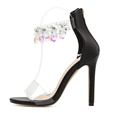 Frauen Roman Schuhe Slip-On High Heels Sexy Ankle Strap Sandalen Abend Hochzeit Ausgeschnitten Pumps Damen Party...