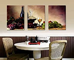 Spirit up art grapes wine home decoration for Dining room wall art amazon
