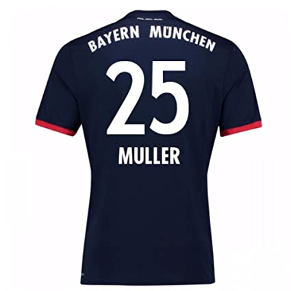 the latest 63963 c8797 2017-18 Bayern Away Football Soccer T-Shirt Jersey (Thomas Muller 25)
