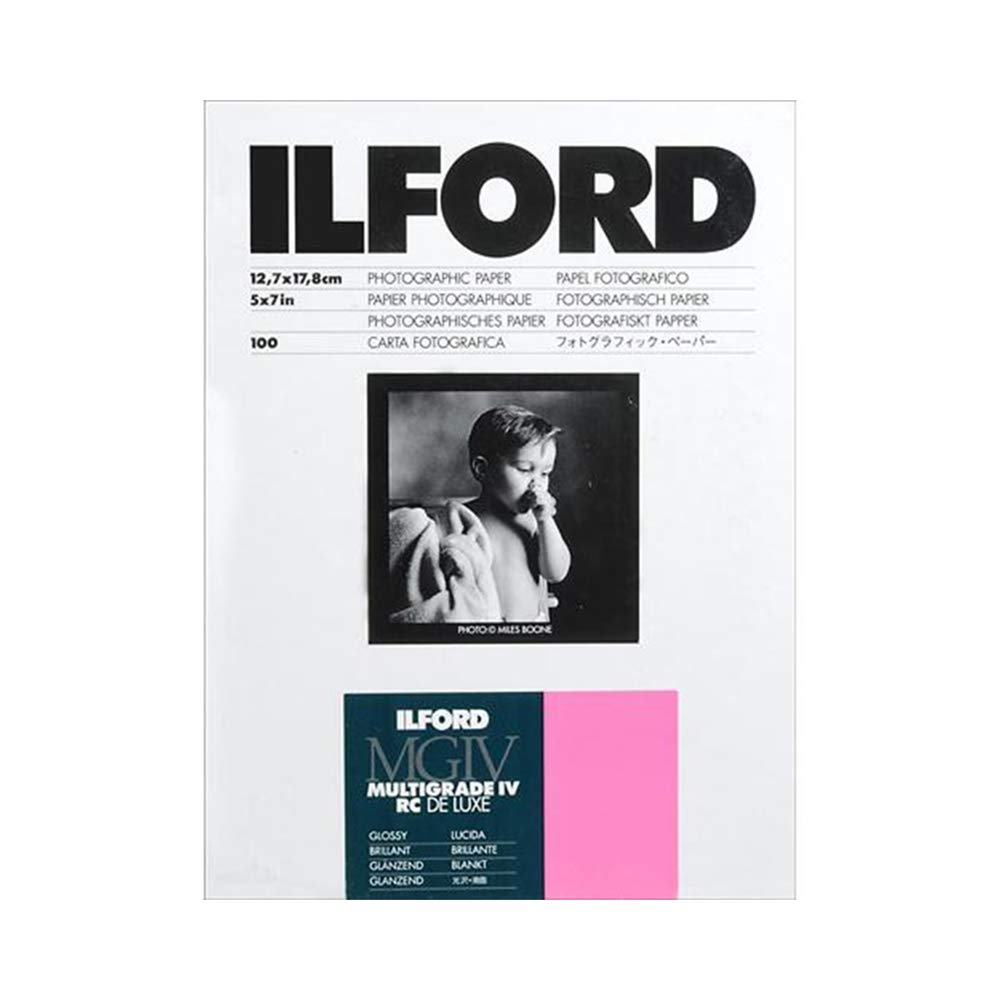 Ilford Multigrade IV RC Deluxe MGD.1M Black and White Variable Contrast Paper (5 x 7 Inches, Glossy, 100 Sheets) (1769900 ) by Ilford