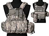 Tactical Multi Attack Molle Combat Vest Magazine Pouch Airsoft Paintball Military ACU
