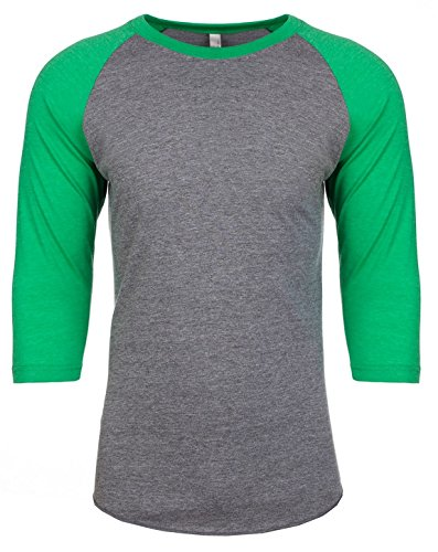 Next Level NL6051 Unisex 3/4 Sleeve Raglan - Envy/ Premium Heather - 2X