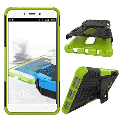 OFU®Para LG G6 Mini Smartphone, Híbrido caja de la armadura para el teléfono LG G6 Mini resistente a prueba de golpes contra la lucha de viaje accesorios esenciales del teléfono-naranja verde