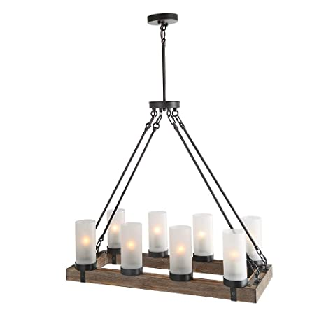 Black rustic chandelier Lamp Image Unavailable Amazoncom Lnc A02988 Wood Kitchen Chandelier Pendant Island Light Fixtures