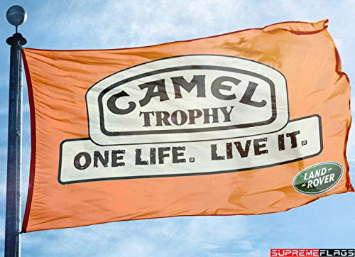 Camel Trophy Land Rover Flag Banner 3x5 ft British Car Rally -
