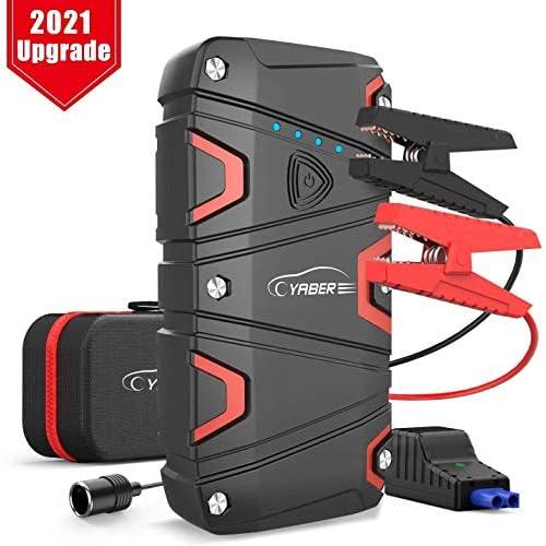 chollos oferta descuentos barato YABER Arrancador de Coches 1200A Arrancador de Baterias de Coche para 7 5L de Gasolina o 6 0L de Diesel Arrancador Batería Coche con IP68 Impermeable con Carga Rápida QC3 0