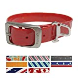 Kurgo Muck Collar Crop Circles Barn Red Collar Waterproof Dog Collar, Small