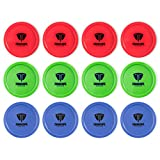 Truscope Sports 12 Pack 3 1/4 Inch Air Hockey Pucks (Multi Color)