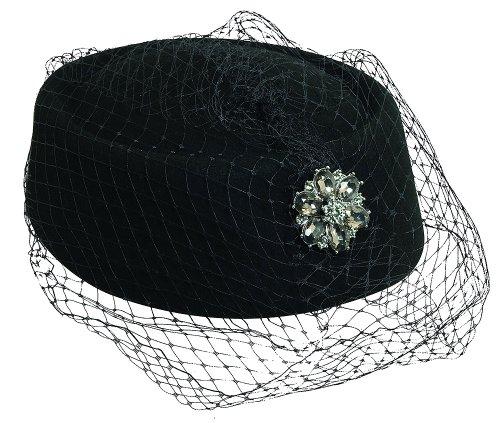 Scala Collezione Women's Felt PillBox Rhinestone Hat