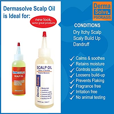 Dermasolve Psoriasis Scalp Oil 2-Pack Forumlated to Loosen Scaling Build-up, Moisturize, Condition, Prevent Itching, Flaking and Soothe the Scalp. (4.0 oz per bottle)