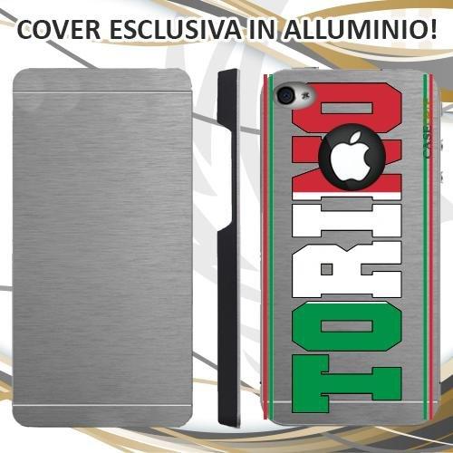 CUSTODIA COVER CASE SKILINE TORINO PER IPHONE 4 ALLUMINIO TRASPARENTE