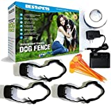 Hidden Underground Electric Dog Fence, Invisible, With Shock Collar, Waterproof, Hidden System, In Ground, Perimeter Fence, Flags, Rechargeable, For Small, Large Pets (3 Dog Collar System)