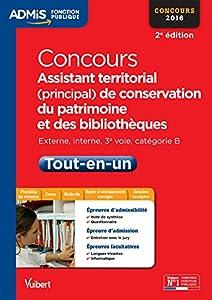 """Afficher """"Concours assistant territorial (principal) de conservation du patrimoine et des bibliothèques"""""""
