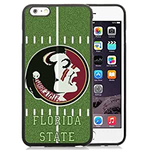Fashionable And Unique Custom Designed With NCAA Atlantic Coast Conference ACC Footballl Florida State Seminoles 9 Protective Cell Phone Hardshell Cover Case For iPhone 6 Plus 5.5 Inch Black