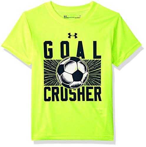 Armour Crusher Under - Under Armour boy Little Graphic SS Tee Shirt, hi gh/vis Yellow SU192, 4