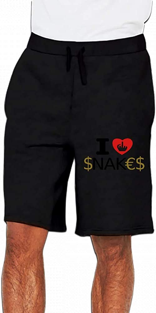JiJingHeWang I Hate Financial Snakes Mens Casual Short Trouser