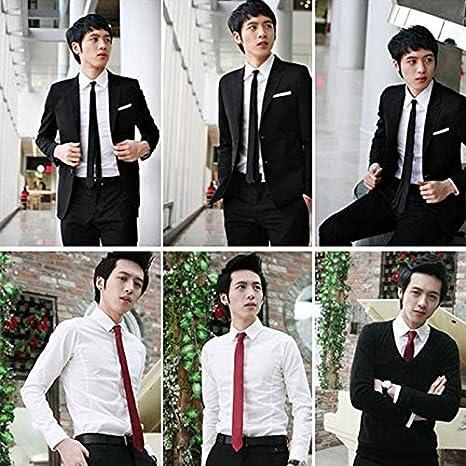 Corbata negra de 5 cm para hombre, monocromática, elegante ...