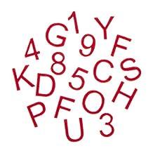 Darice 30005162 Alphabet Stickers Red Adhesive Felt Alphabet Letter Stickers
