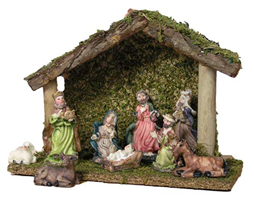 Christmas Nativities - BANBERRY DESIGNS Nativity Set Creche 9 Piece Ceramic Figurine Set