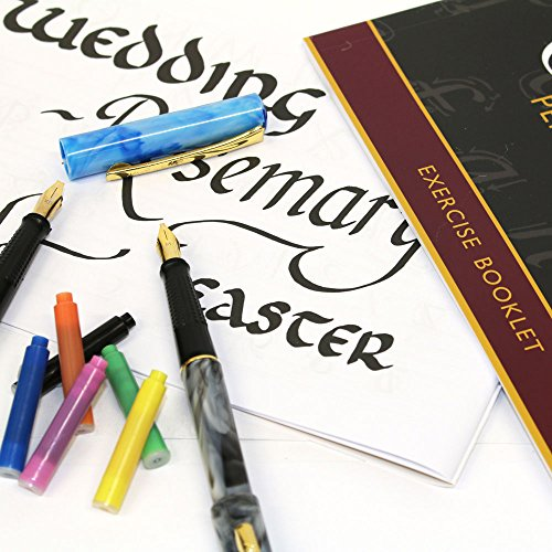 Mont Marte Calligraphy Set, 33 Piece. Includes Calligraphy Pens, Calligraphy Nibs, Ink Cartridges, Introduction Booklet and Exercise Booklet. by Mont Marte (Image #4)