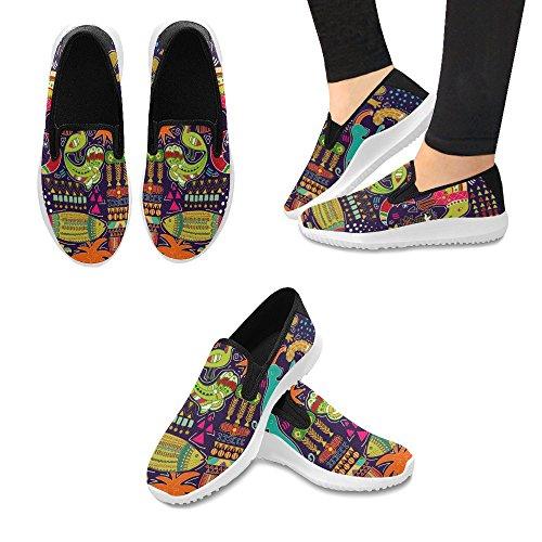 Mocassino Slip-on Astratto Colorato Colorato Scarpe Da Donna Slip-on Sneakers Moda Multi Canvas 1