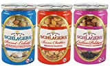 Premium Roasted Nuts Variety (3 flavors / 3 cans / 20.5oz) including Cashews & Cranberries, Peanuts wiith Coconut Flakes & Pineapple, and Bacon Cheddar Peanuts by Schlagers For Sale