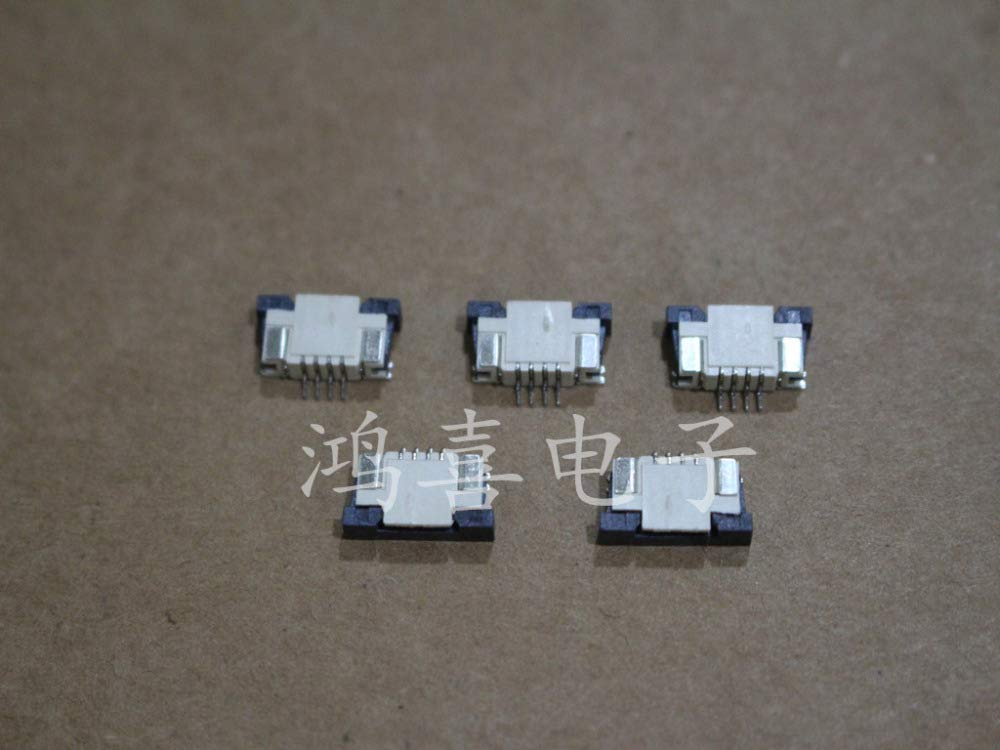 Computer Cables Yoton New FFC FPC Ribbon Flat Cable Connector Socket 1.0mm Pitch spacing 4 Pin FPC FFC Connector Pick up Cable Length: Other