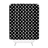 Polka Dot Shower Curtain General Black and White Polka Dots Polyester Fabric Bathroom Shower Curtain 6072Inch