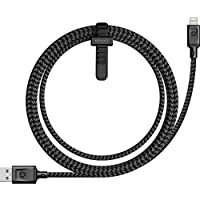 Nomad Ultra Rugged 1.5 M Lightning Cable for iPhone and iPad - Pass-Through Charging Technology - Ballistic Nylon and Kevlar Core