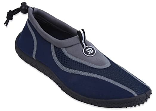 Shoes 18 New Mens Slip on Water Pool Beach Shoes Aqua Socks 5 Colors Available (Size 8 Grey)
