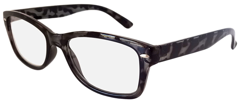 039988b8574c 4 PAIRS WAYFARER STYLE READING GLASSES BLACK +2.5 RETRO LOOK R4007   Amazon.co.uk  Clothing