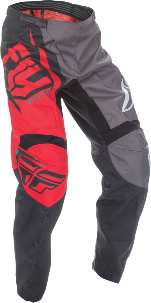 Fly Racing Unisex-Adult F-16 Pants (Red/Black/Grey, Size 42)