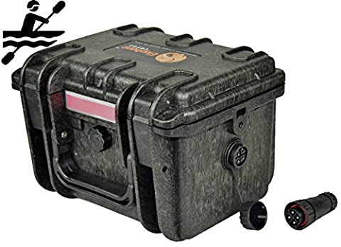 Elephant K100 Custom Made Kayak Battery Box Waterproof Floating Battery Case for Powering GPS Fish Finders Led Lights and Much (Marine Battery Box Small)