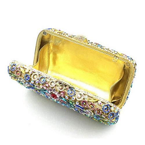Una Fascia Con Piccola Di Banchetto Cambio Abito Clutch Nuova Borsa Spalla Femminile Alta Wybxa Diamantato Da Yellow Sera Donna Scatola vxB06Zp4wq