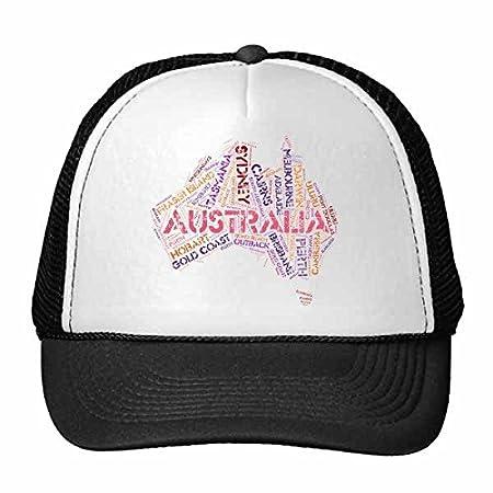 DIYthinker Australia Mapa del Sabor con el Estado y la Ciudad de ...
