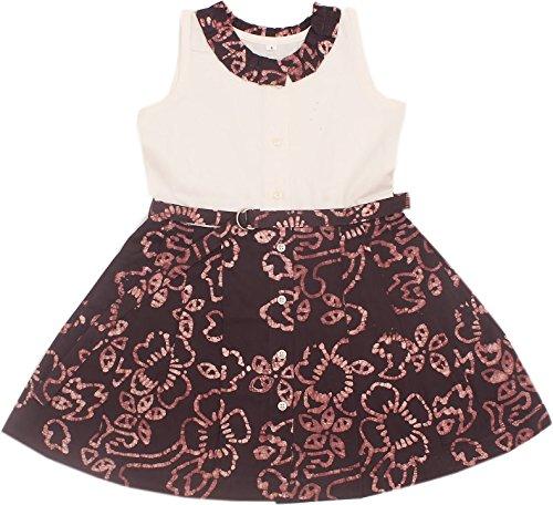 cb10e8a24 Twist Baby Girl Kids Linen Cotton Batik Print Frocks A-Line Dress ...