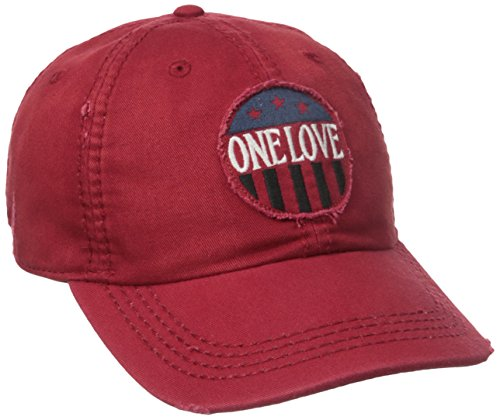 Life is Good Sun Washed Chill One Love Cap, One Size, Flag Red